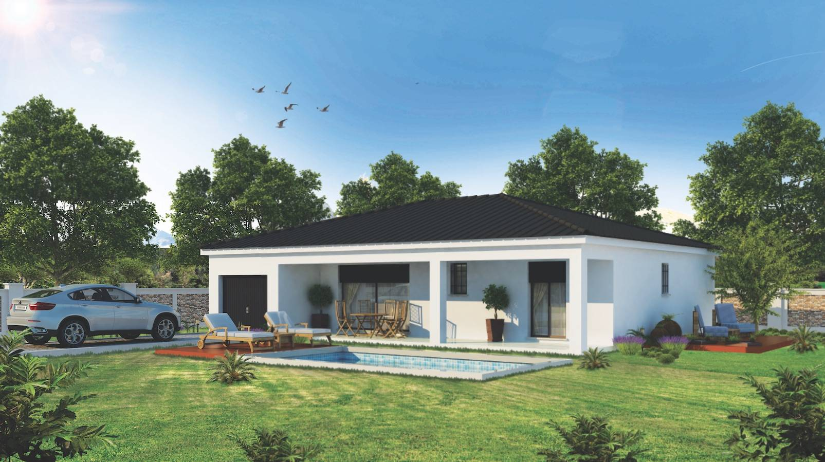 Maison Individuelle De Plain Pied Avec Terrasse 5