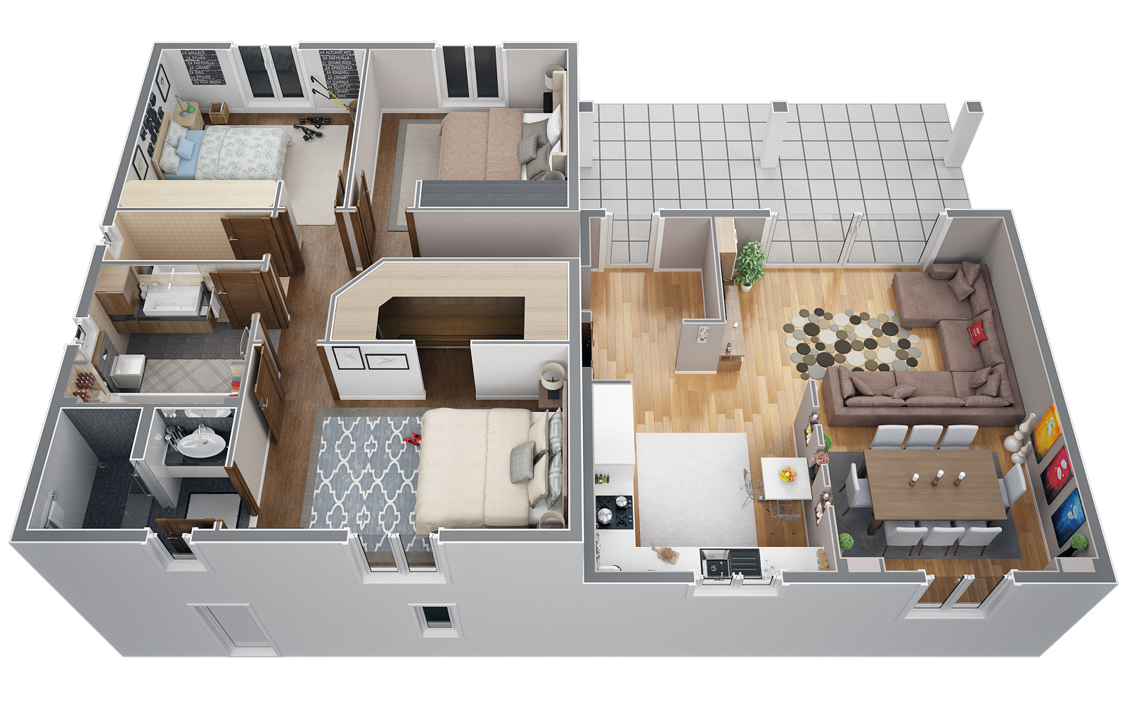 Plan maison demi etage ns27 jornalagora for Plan maison contemporaine 100m2
