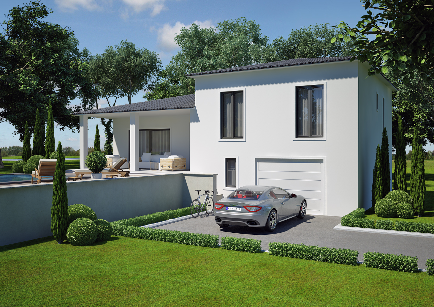 Modele maison 100m2 maison habitat concept inya agrandir for Modele maison habitat concept