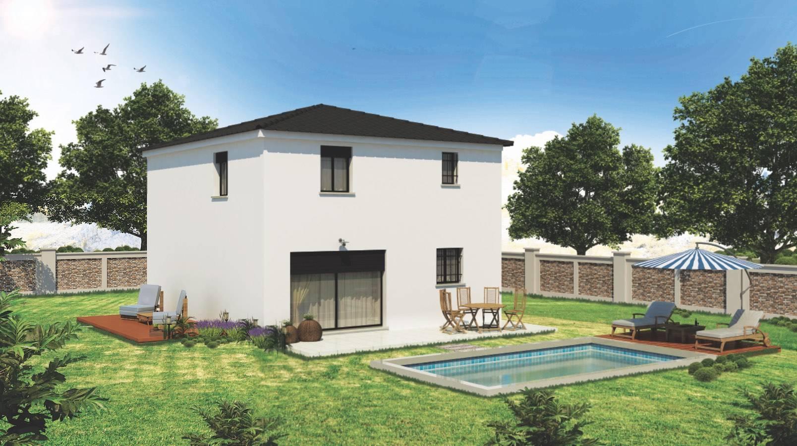 Constructeur De Maison Contemporaine Avec Toit Terrasse Et Debord De Toiture Salon De Provence 13300 Azur Logement Provencal
