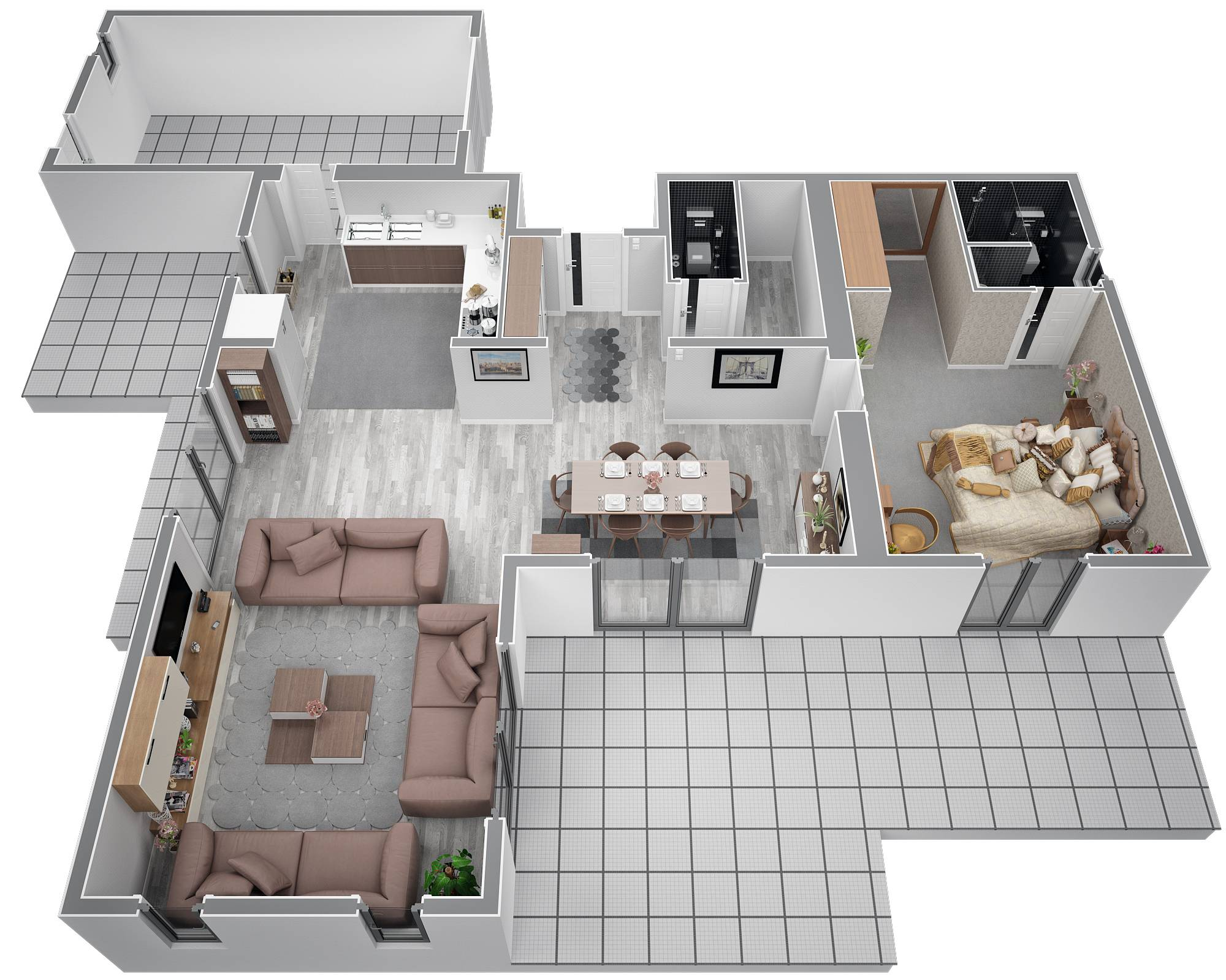 Plan maison etage 130m2 for Plan maison 100m2 2 etages