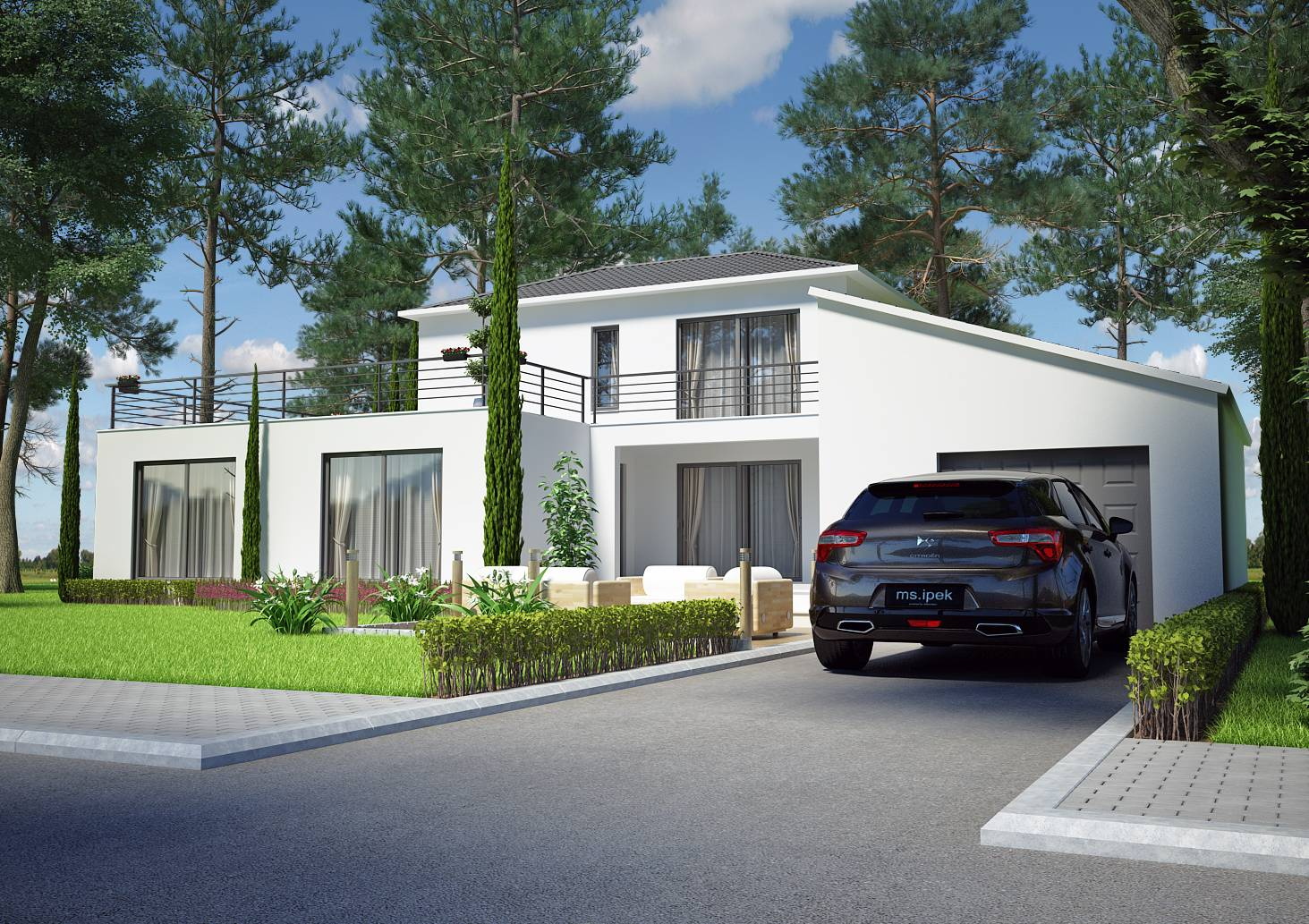 Villa contemporaine 125m2 etage mod le magnolia salon for Modele de villa