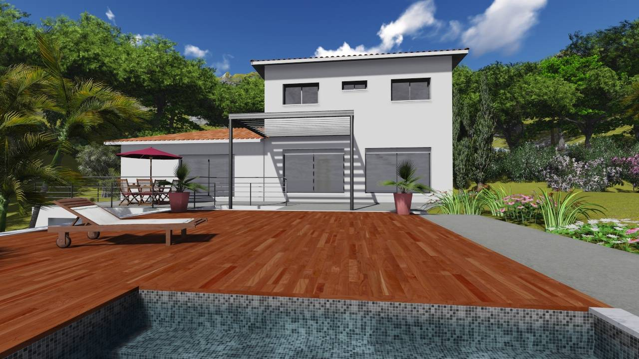 Maison moderne tage 100m2 gascity for for Villa contemporaine plan