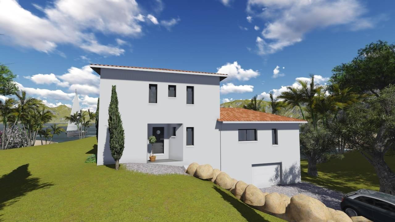 Villa contemporaine 140m2 semi tage mod le dahlia for Constructeur villa contemporaine