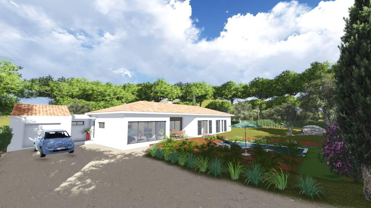 Villa contemporaine 170m2 plain pied mod le glycine for Plan de maison provencale plain pied gratuit