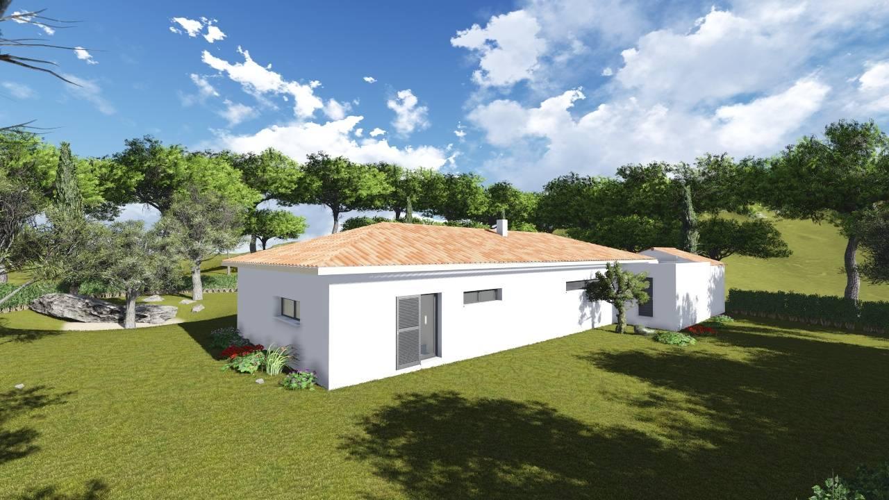 Villa contemporaine 170m2 plain pied mod le glycine for Constructeur maison contemporaine 08