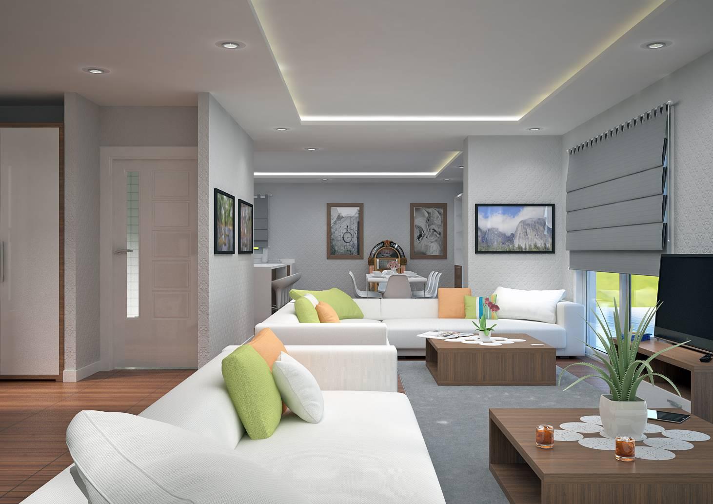 Villa contemporaine 150 M2 Etage - Modèle PINEDE - Salon de ...