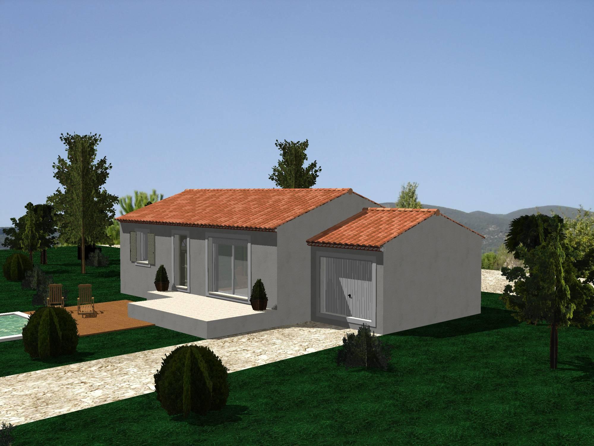 Villa Sur Plan Modele 70 M2 A Construire Dans Les Bouches Du Rhone 13 Azur Logement Provencal