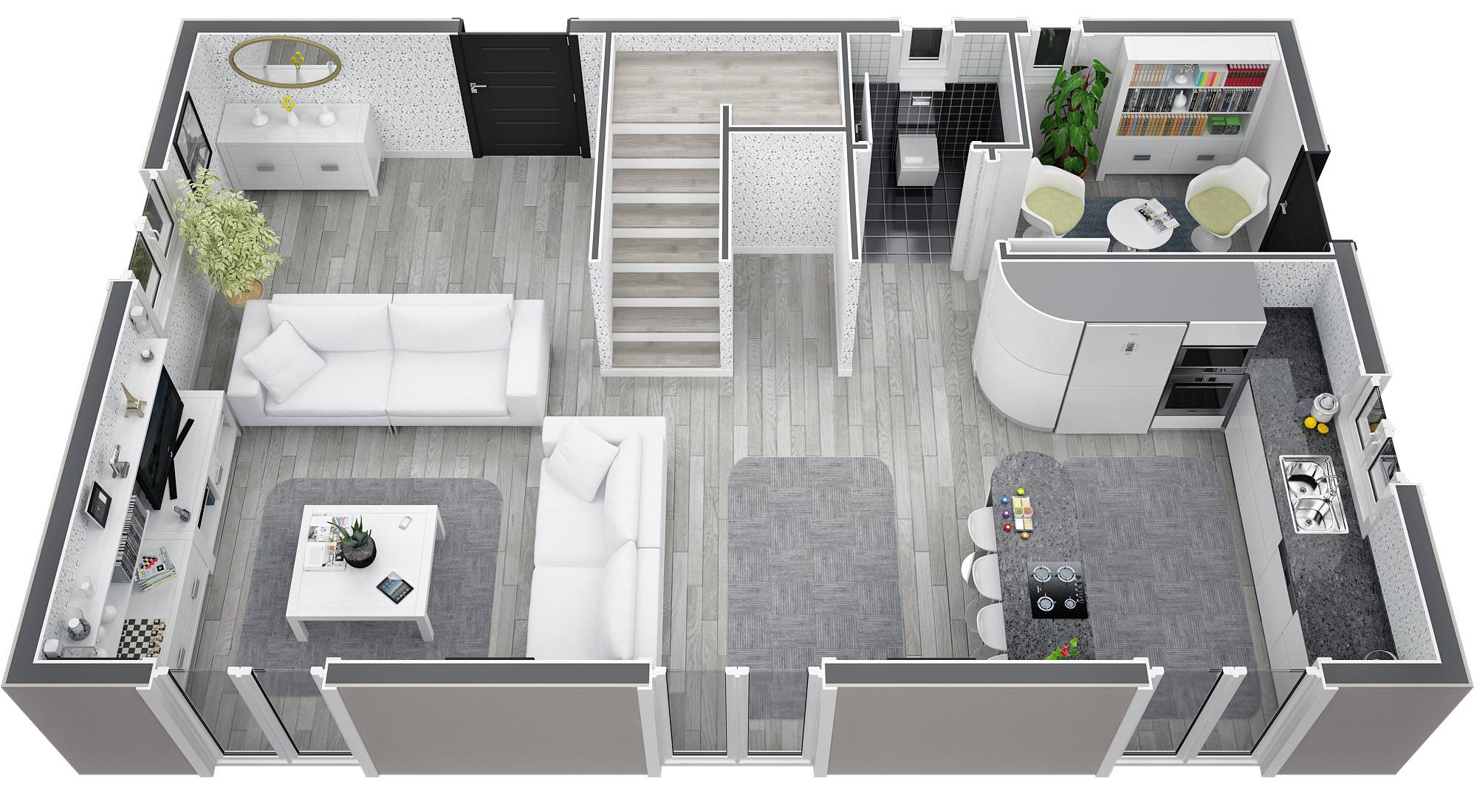 Mod le villa traditionnelle 100m2 tage r alisable dans for Plan de maison etage 3 chambres