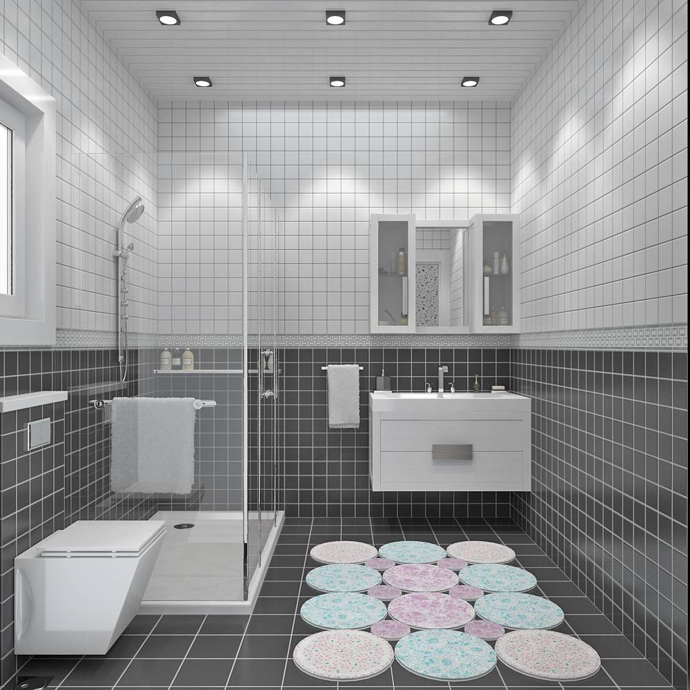 Mod le villa traditionnelle 100m2 tage r alisable dans for Exemple salle de douche