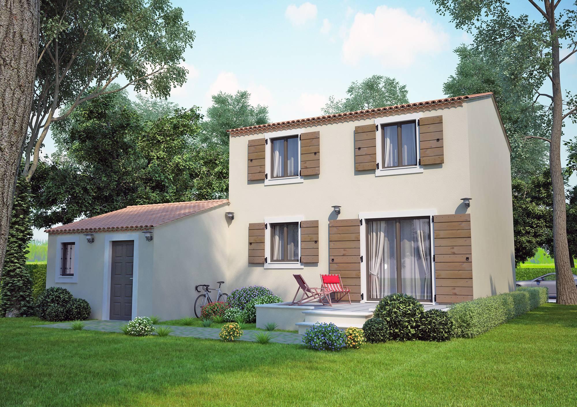 Villas cypr s 90m2 contruire dans la r gion paca azur for Constructeur maison individuelle paca