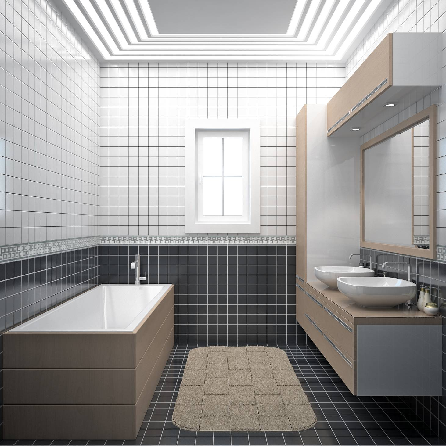 Maison en l de 130m2 lavande traditionnel azur logement for Idee amenagement salle de bain 6m2