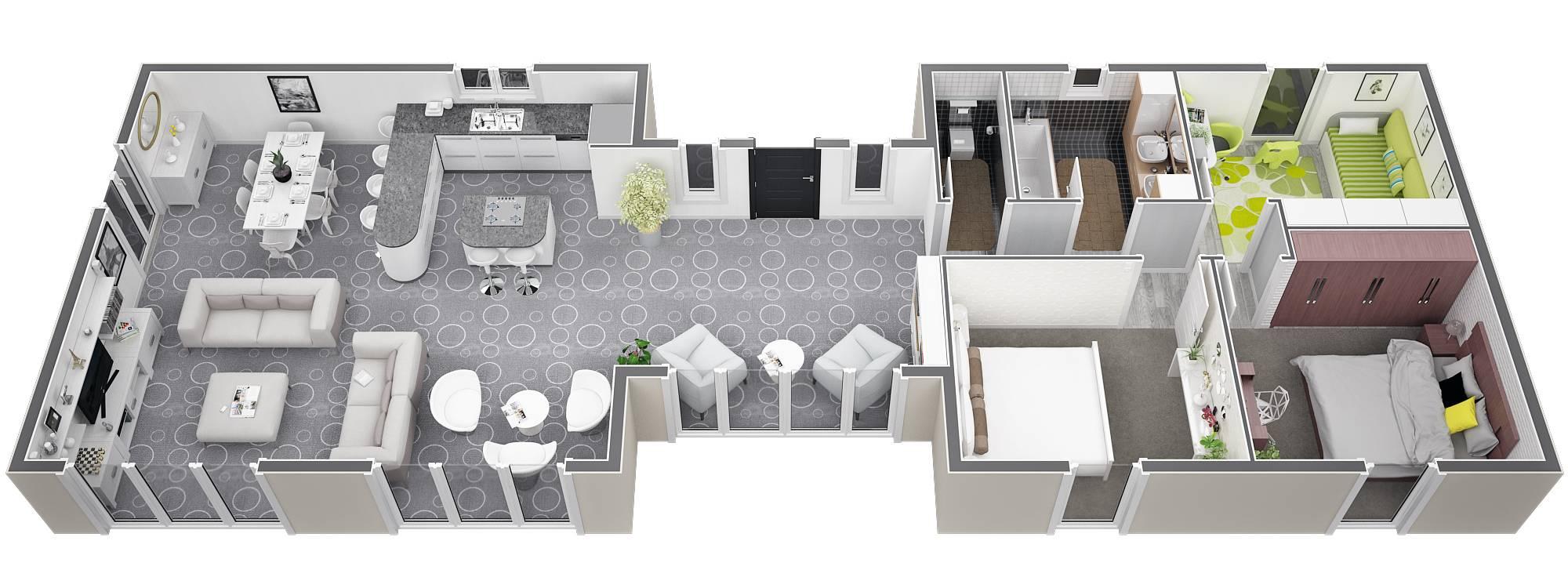 Modele De Plans De Villa De Construction Traditionnelle De Plein