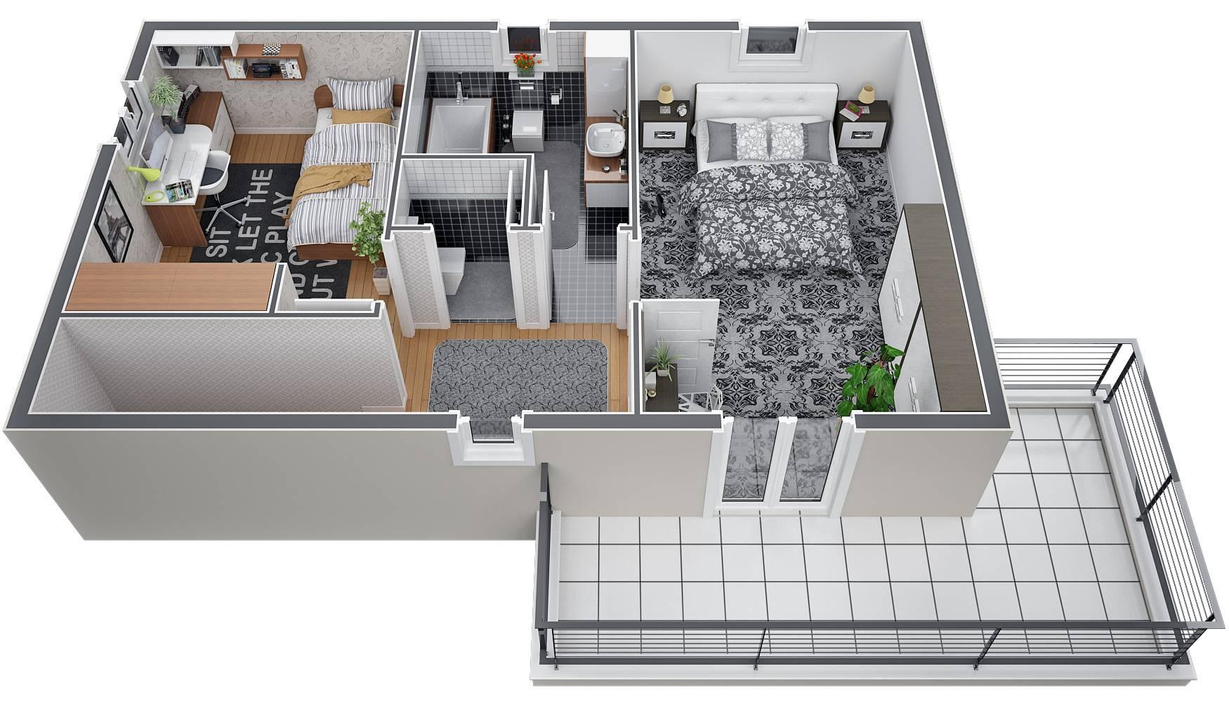 Audacieuse Modèle de villa à étage 120M2 type traditionnel - Magnolia - Azur EG-31