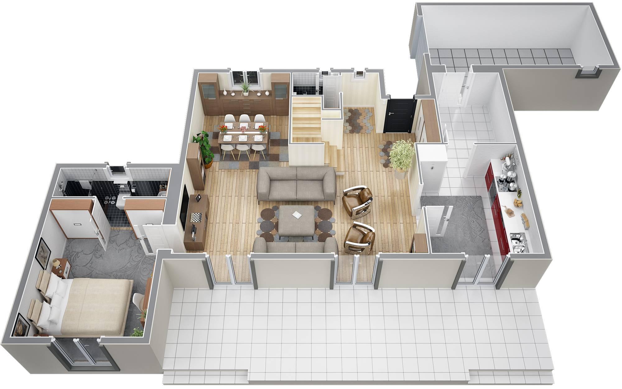 Villa gentiane traditionnelle de 135m2 construire dans for Plan suite parentale 12m2