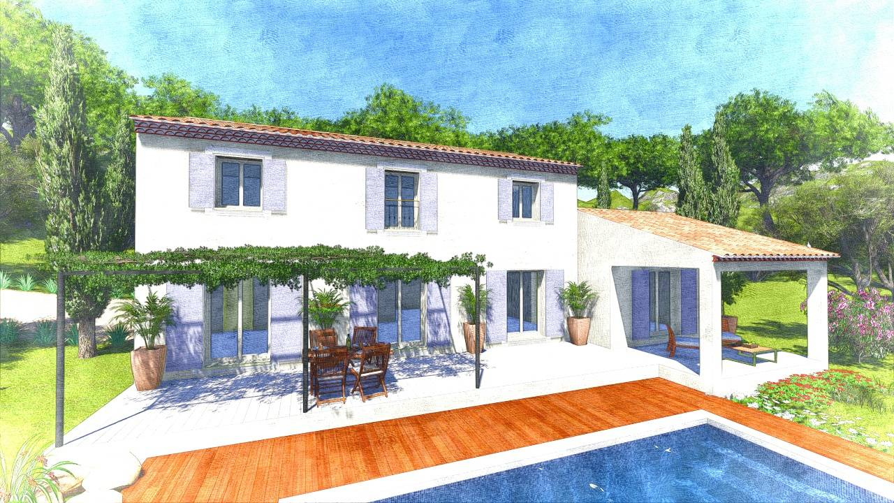 Mod le mas 180m2 construction de type traditionnel anis Type de construction de maison
