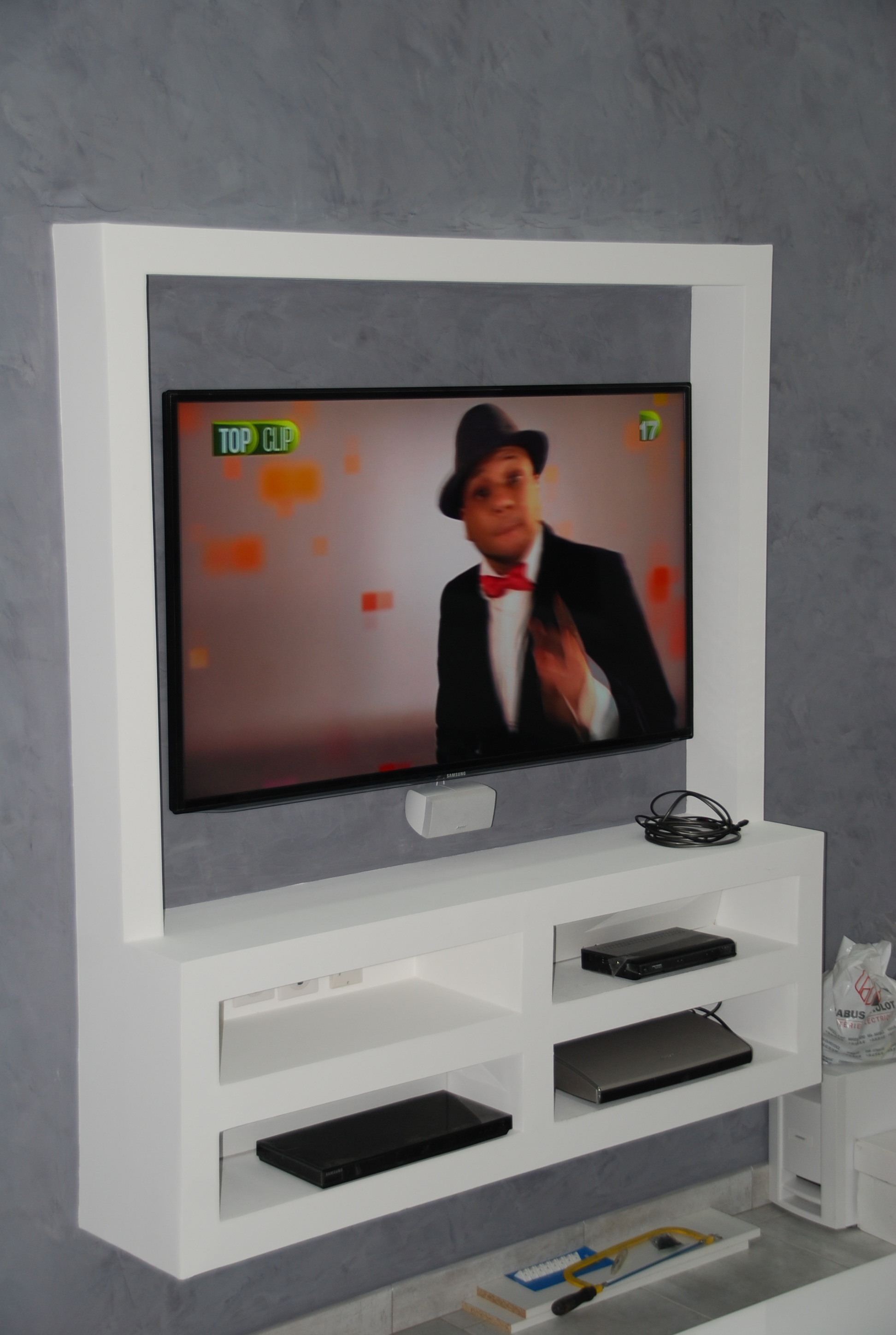 Meuble Tv Son Integre Maison Design Wiblia Com # Meuble Tv Barre De Son Integree