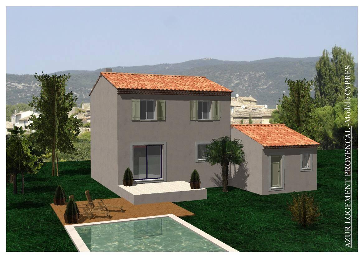 Merindol 84360 terrain maison 90m avec garage 18m2 for Construire une maison de 200m2