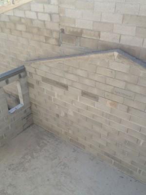 Double mur pour garage - vue sur Pignon