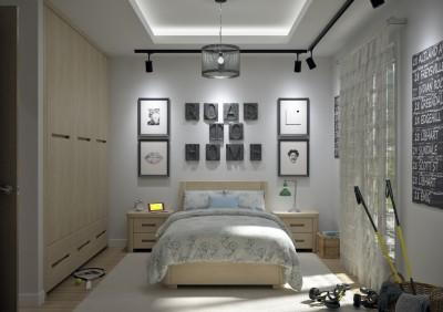 Modèle villa contemporaine 100M2 demi étage AGATE