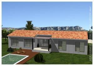 Modèle villa contemporaine 100M2 réalisable dans le 13 ou le 84 - Capucine