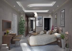 Vue Suite Parentale Lavande moderne 130m2 Azur Logement Provencal