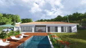 Villa contemporaine 170M2 plain pied - Modèle GLYCINE - Salon de provence 13300 Bdr
