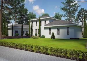 Plan d'une maison de 150m2. Azur Logement Provencal 13300. 84360