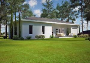Plan d'une maison de 80m2. Azur Logement Provencal 13300. 84360