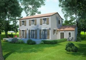 Modèle villa traditionnelle 100M2 à étage réalisable dans le luberon - Fuchsia