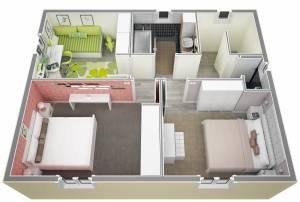Vue ensemble étage Villa Lavande par Azur Logement Provencal