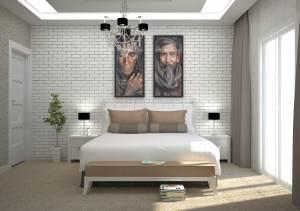 Chambre 2 étage Villa Lavande 130m2