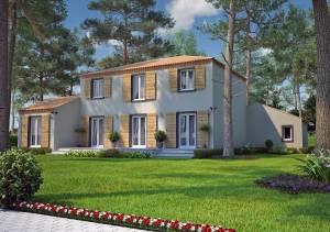 Mod les de maisons construire sur plan autour de salon for Maison traditionnelle 130m2