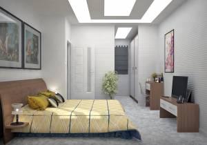 Chambre étage avec dressing modèle Gentiane 135m2