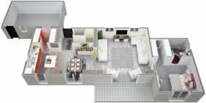 Vue d'ensemble RdC plan IRIS 115 m2 modèle Traditionel