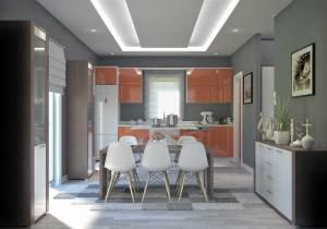 Vue cuisine Villa Traditionnelle IRIS 115m2 Azur Logement Provencal