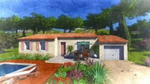 Modèle villa traditionnelle de 80M2 PP - Lys à construire sur Rognes